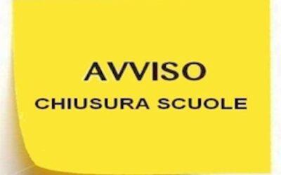 CHIUSURA SCUOLA PLESSO DI RAPINO LUNEDì 9 DICEMBRE