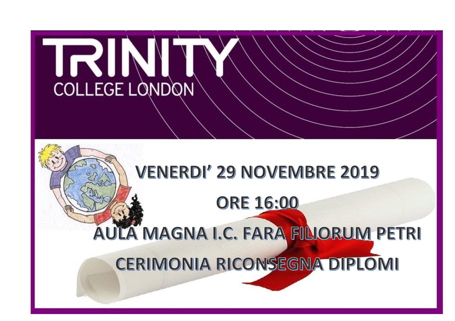 Consegna Diplomi Trinity