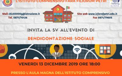 Rendicontazione sociale 13 dicembre 2019